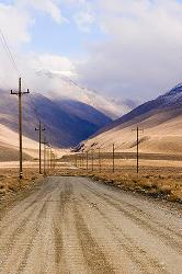 mountains, Eastern Sierra, winter, Bishop, dirt road