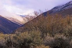 Eastern Sierra, winter, Bishop,  mountains, sunrise, clouds